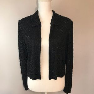 Ste'nay Women's Vintage Beaded Silk Blazer Jacket